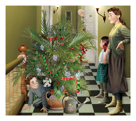 "Illustration ""Junior / One Splendid Tree"", KidsCan Press"